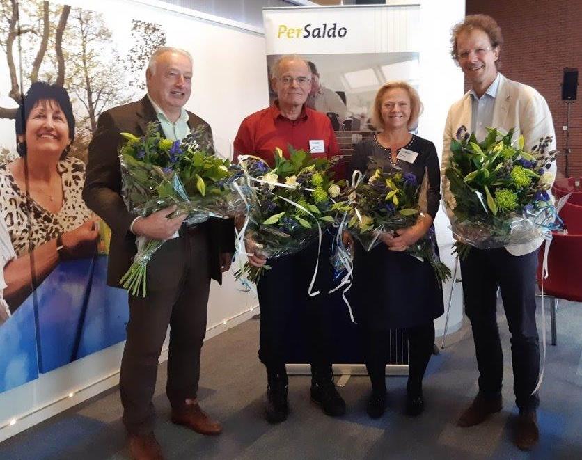 Van links naar rechts Lex Stibbe, Gabriel Enkelaar, Inge Zweerts de Jong, Louis Bouchez